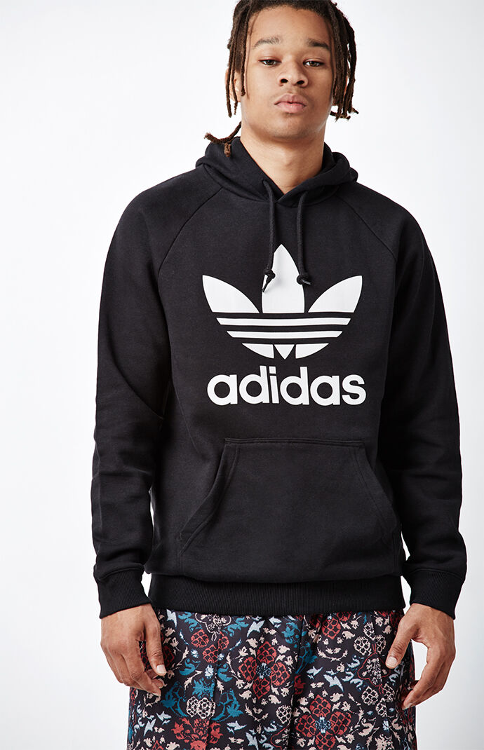 adidas Trefoil Black Pullover Hoodie 6461065