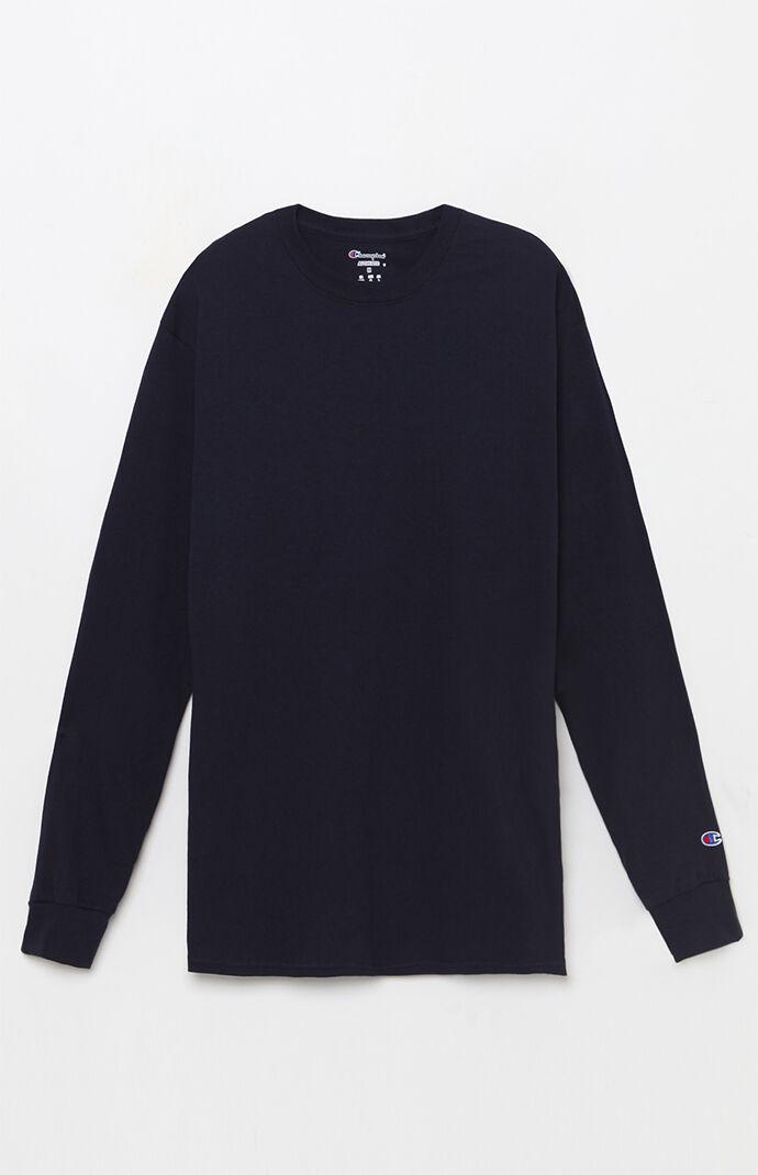 Champion Basic Navy Long Sleeve T-Shirt 7169303
