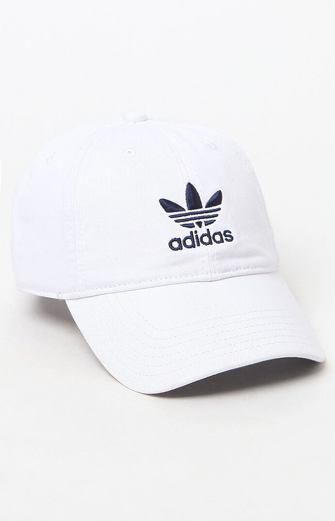 adidas Washed Canvas Dad Hat - White 6447056