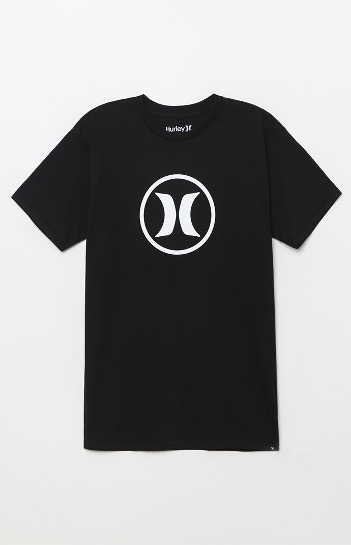 Hurley Circle Icon T-Shirt - Black 7074966