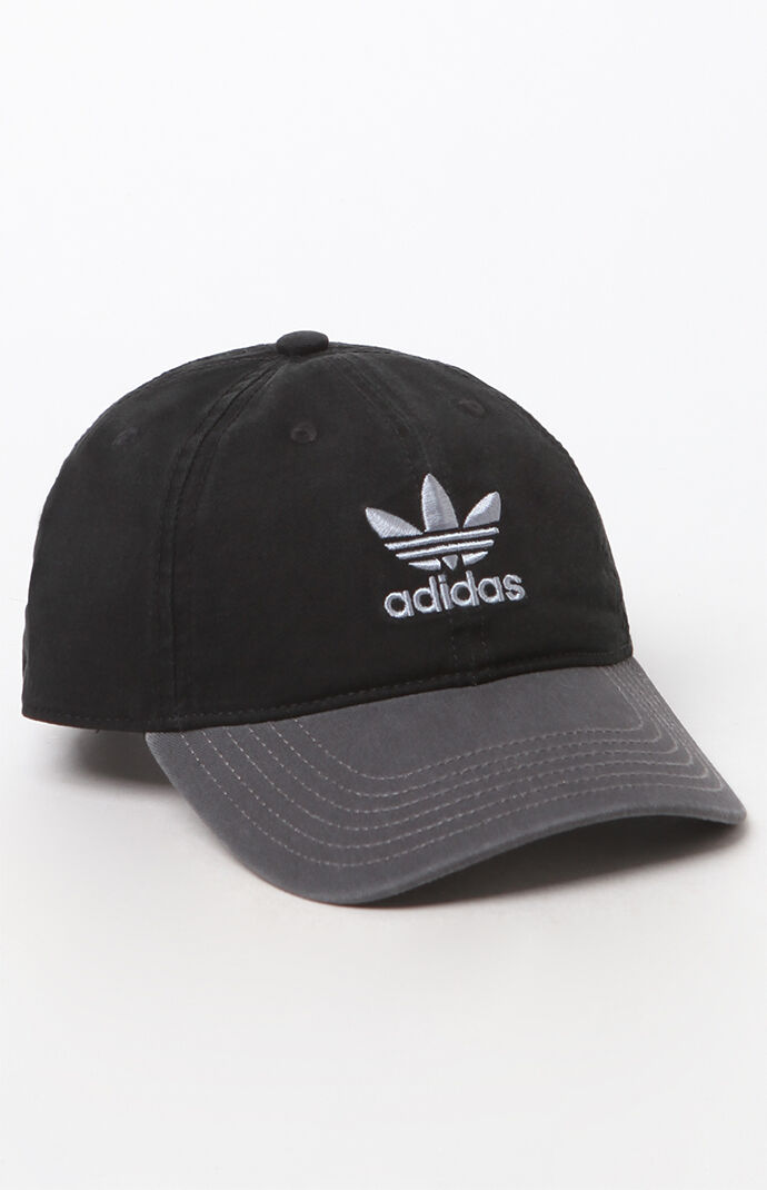 adidas Two-Tone Relaxed Strapback Dad Hat - Black/gray 6637102