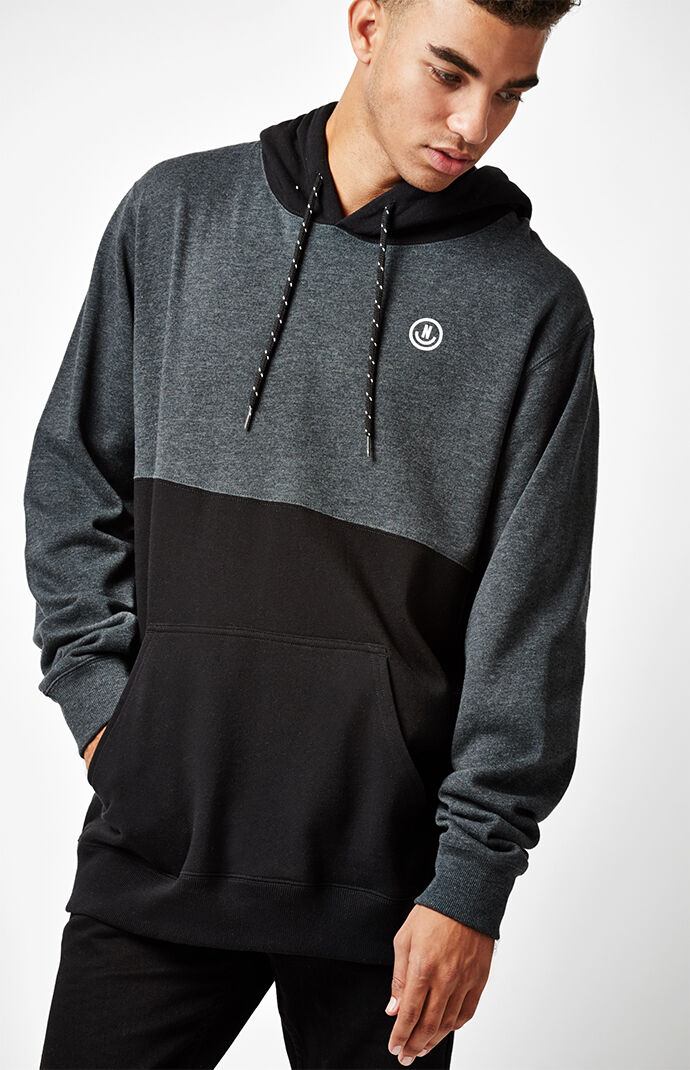 Neff Split Pullover Hoodie - Charcoal Heather 5498159