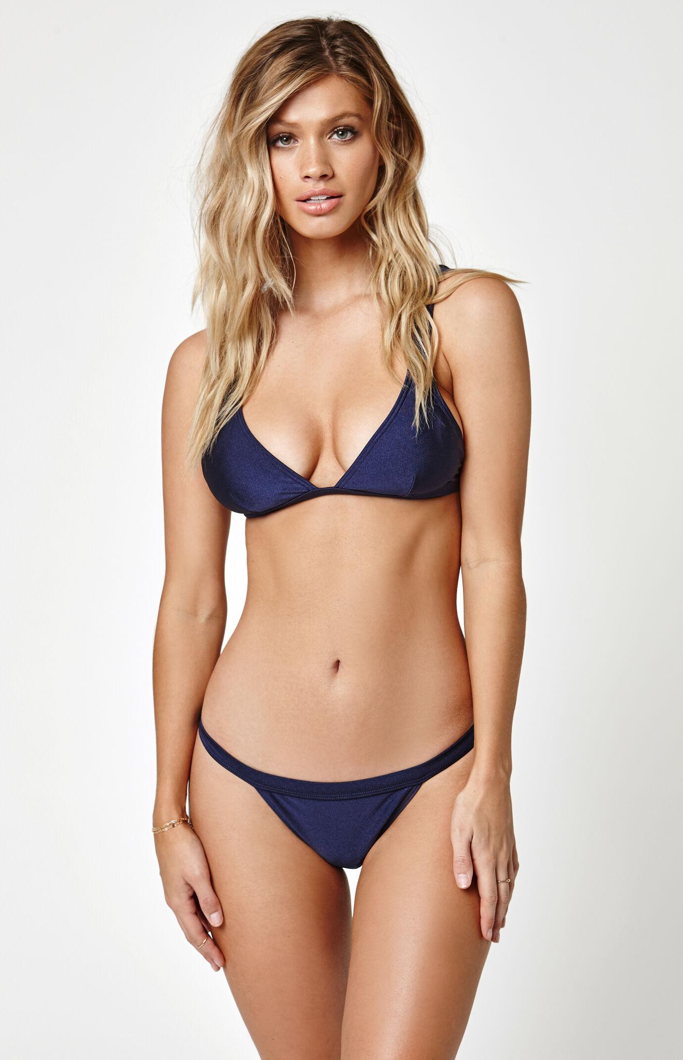 MinkPink Lucky Star Triangle Bikini Top - Indigo Blue 7159478