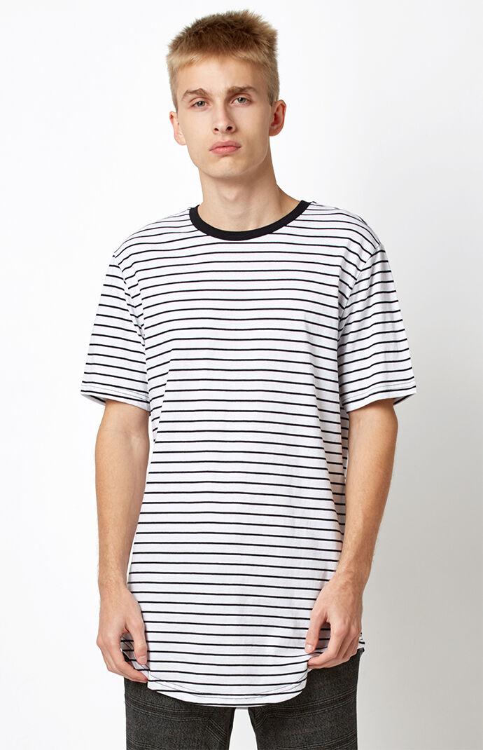 PacSun Charm Scallop T-Shirt - White/black 6845390