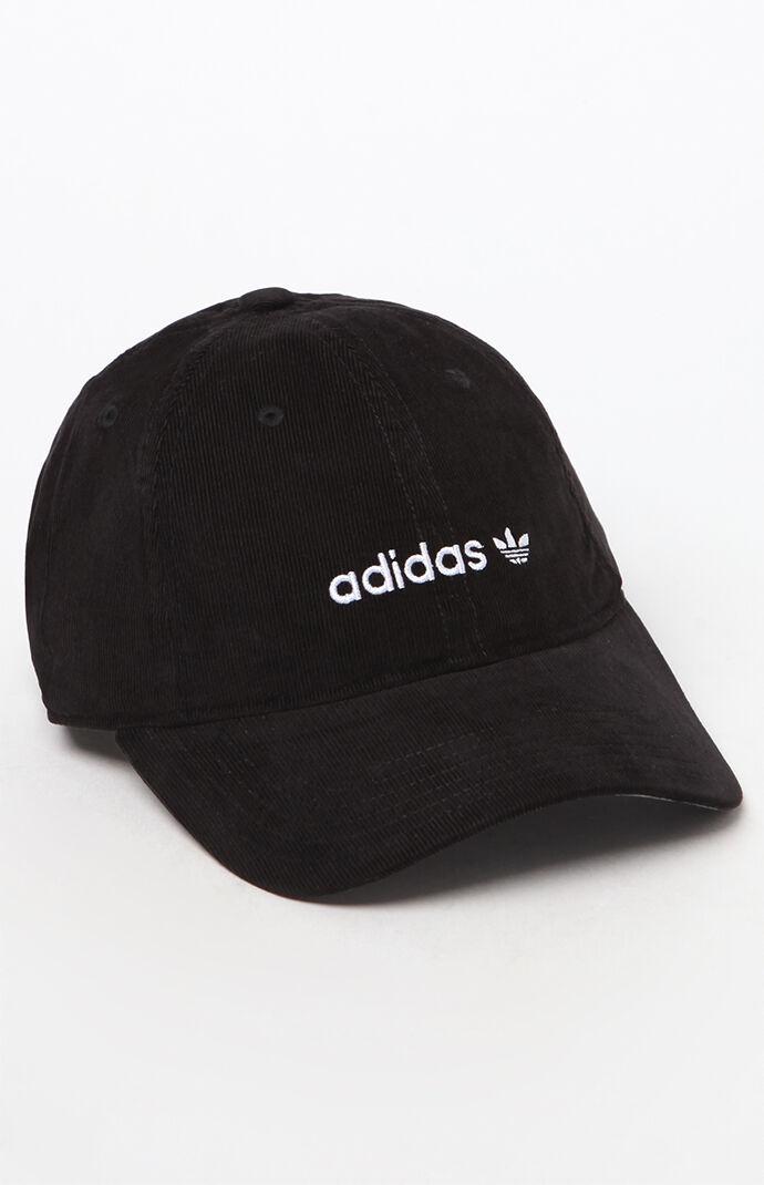 adidas Corduroy Logo Dad Hat - Black 6679526