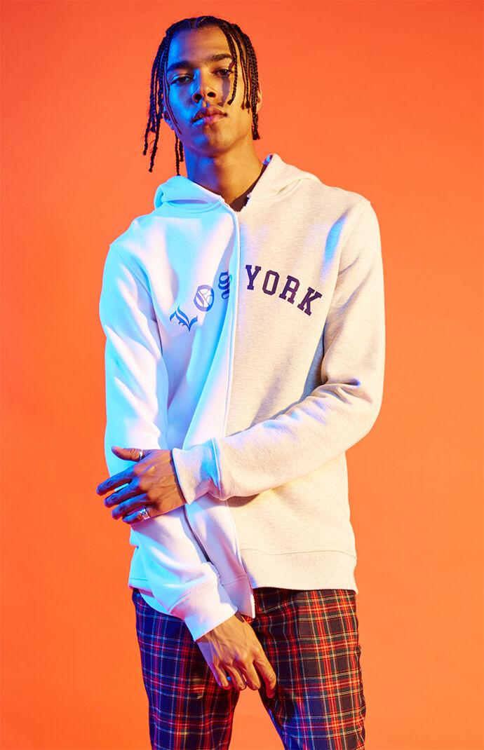 PacSun Editor's Choice Los York Splice Pullover Hoodie - Gray 7183999