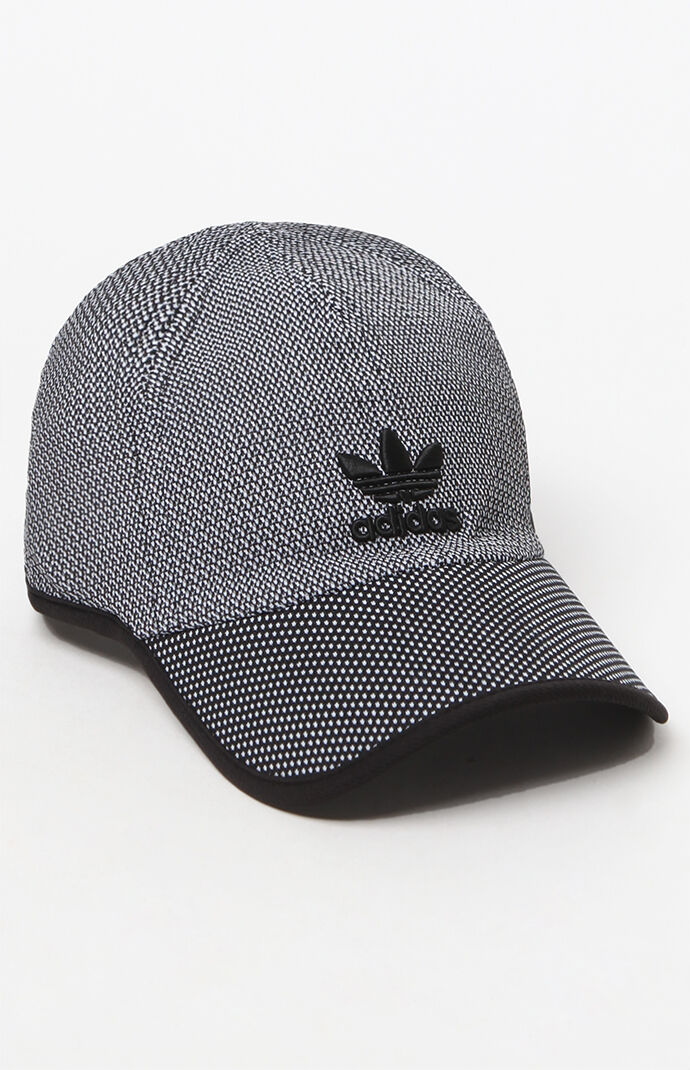 adidas Primeknit Relaxed Strapback Dad Hat - Black/white 6268213