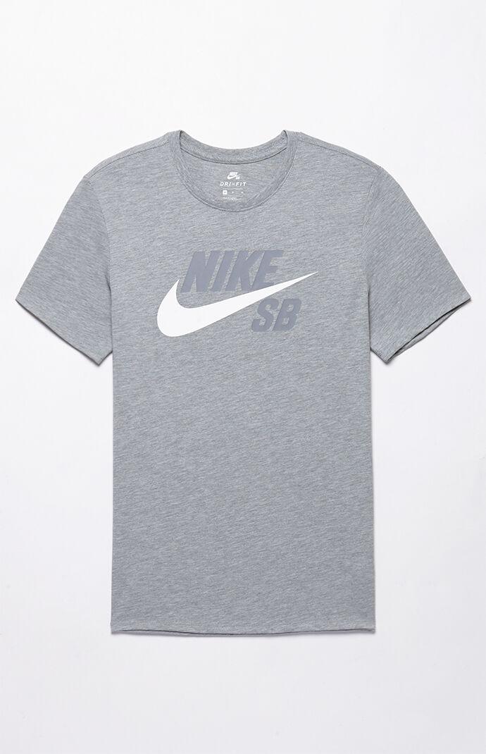 Nike SB Dri-FIT Futura T-Shirt - Heather Grey 6553416