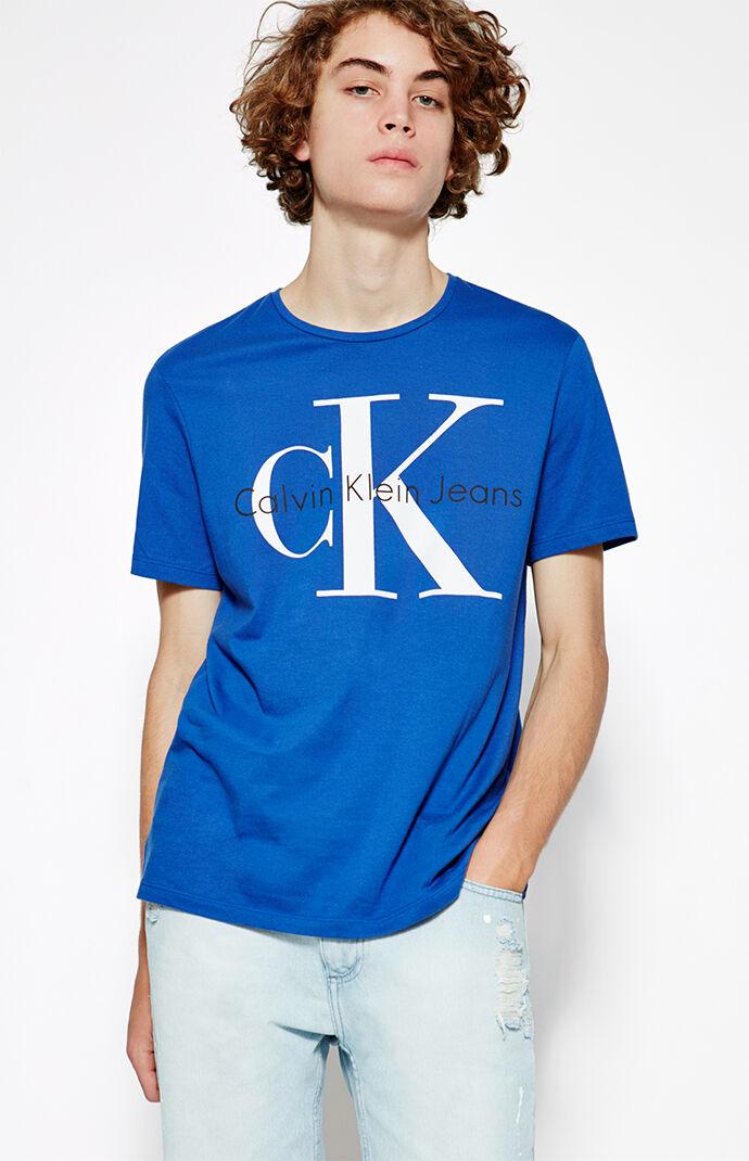 Calvin Klein Reissue Logo T-Shirt - Royal Blue 6667711