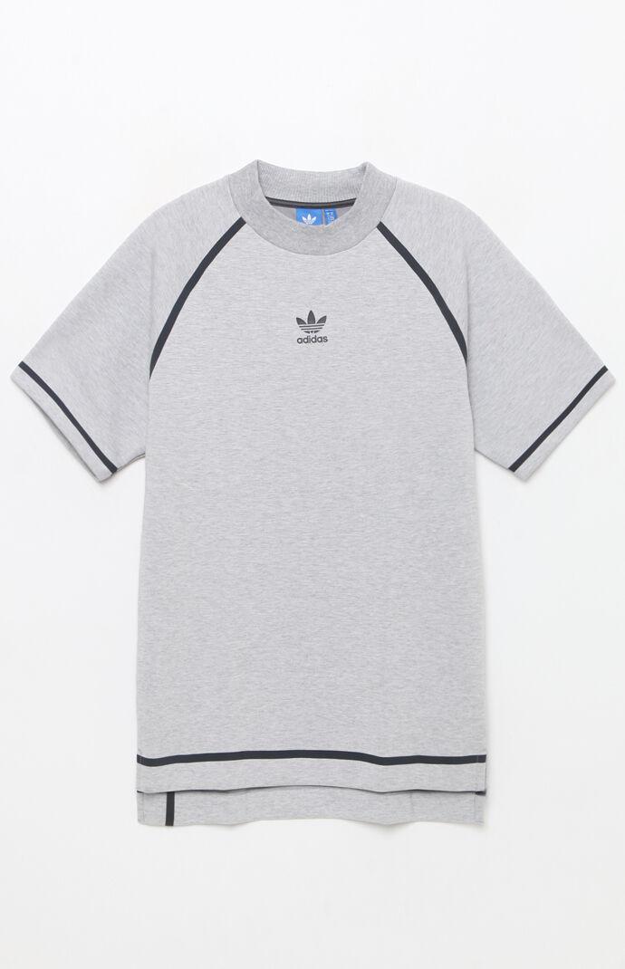 adidas Taped Nova T-Shirt - Heather Grey 6565568