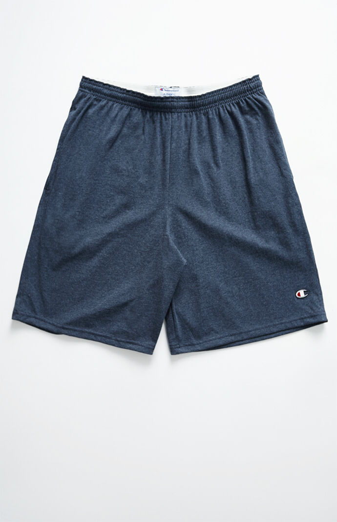 Champion Jersey Drawstring Active Shorts - Navy 7034077