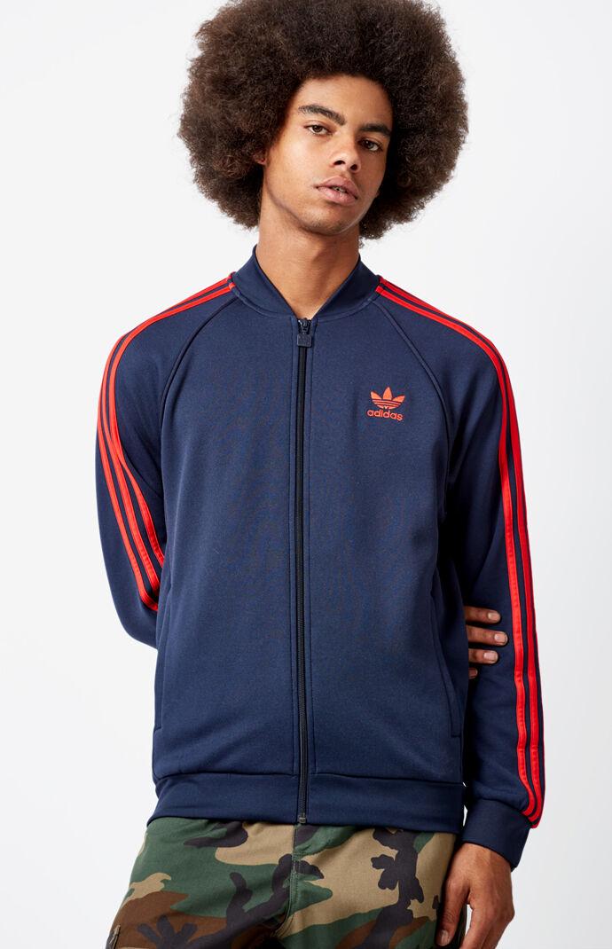 adidas Superstar Blue & Red Track Jacket - Dark Blue 6460901