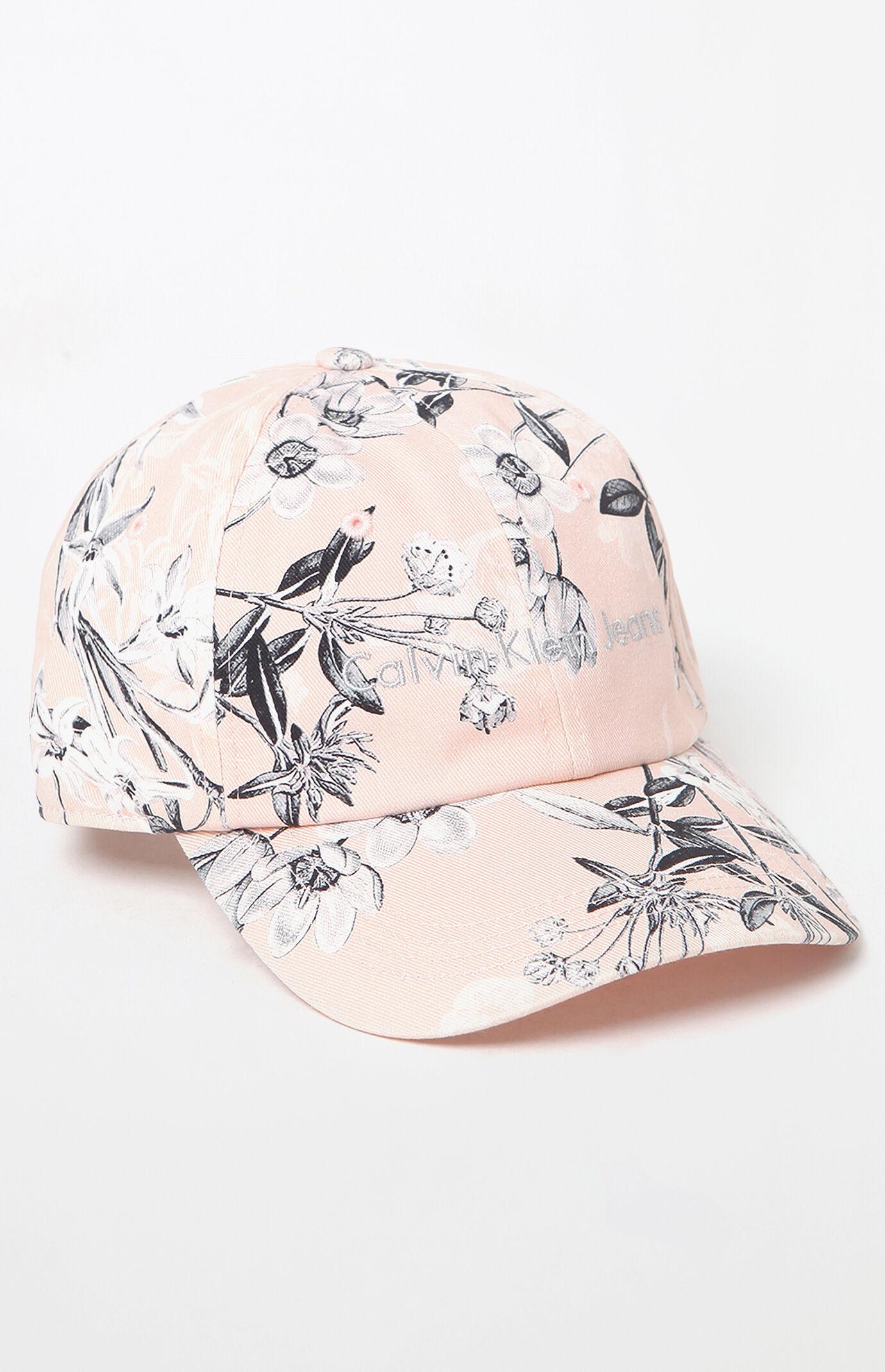 Calvin Klein Floral Strapback Dad Hat - Peach 6085757