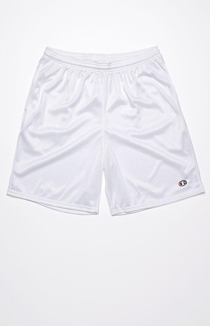 Champion Classic Mesh Drawstring Active Shorts - White 7168727