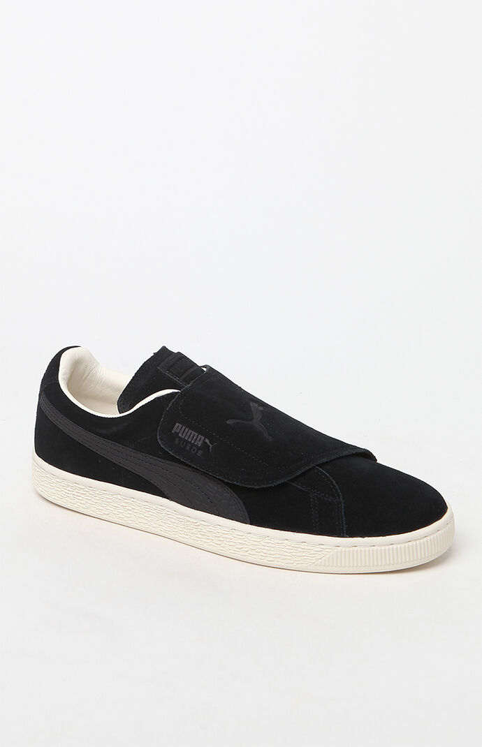 Puma Suede Wrap Colorblocked Black Shoes - Black/black 6509624