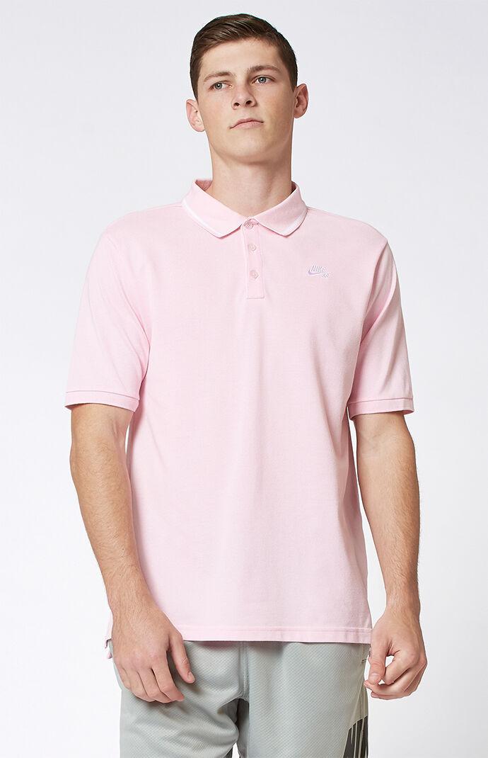 Nike SB Dri-FIT Pique Pink Polo Shirt 6209894