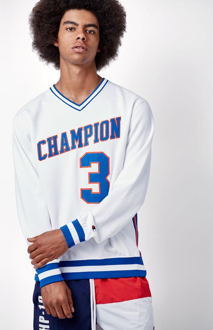 Champion V-Neck Sweatshirt - White 6542831