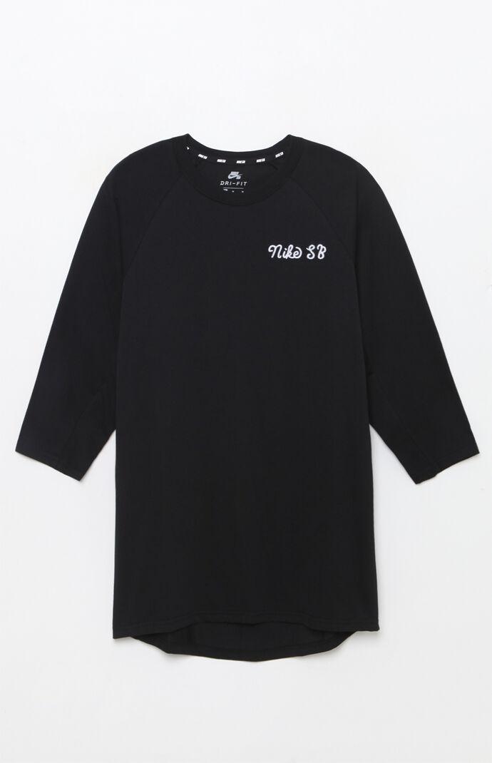 Nike SB Dri-FIT GFX 3/4 Sleeve T-Shirt - Black 6553705