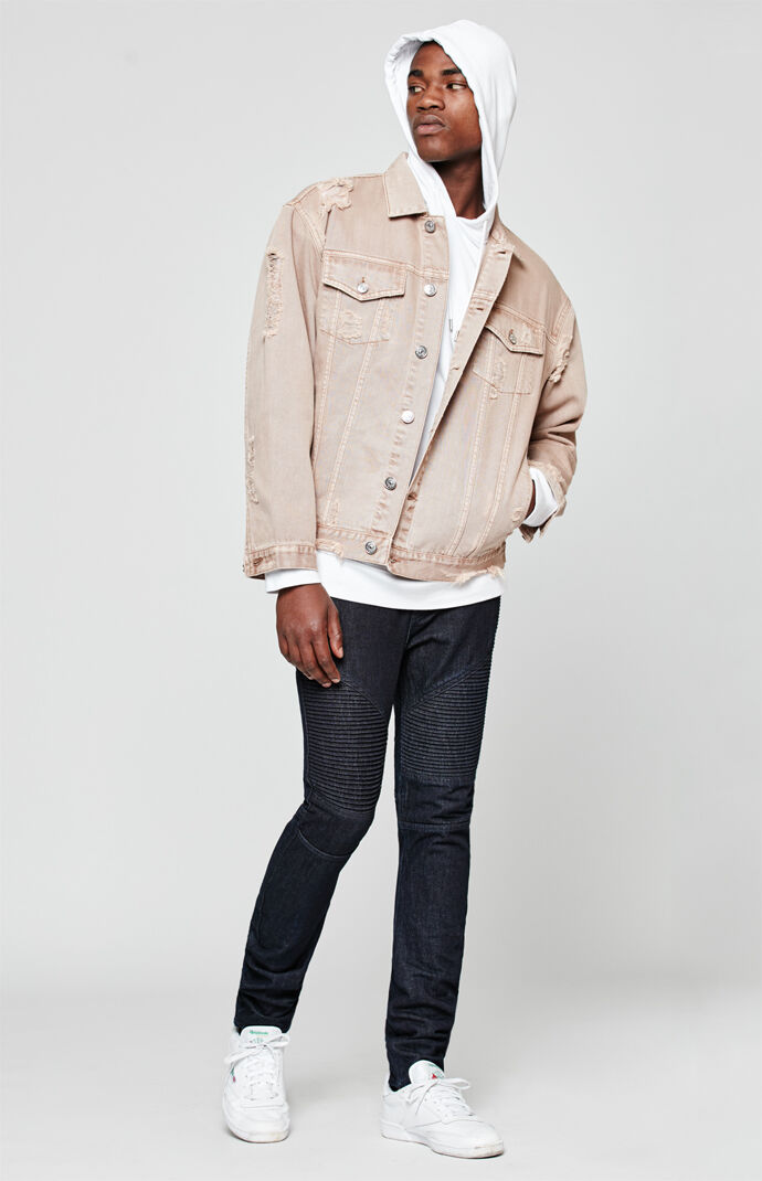 PacSun Ergo Stacked Skinny Moto Jeans - Rinse 6912521
