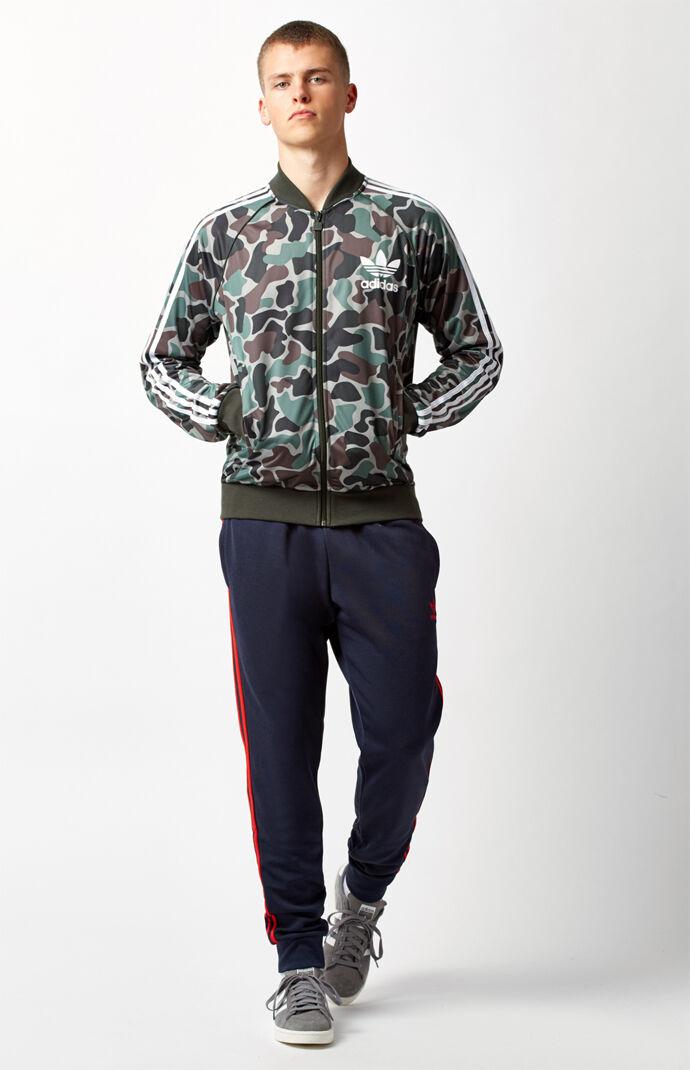 adidas Superstar Cuffed Track Pants - Dark Blue 6461032