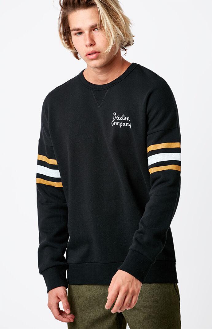 Brixton Barton Crew Neck Sweatshirt - Black 6743561