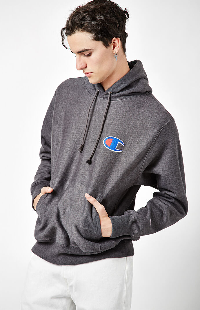 Champion Big C Reverse Weave Pullover Hoodie - Charcoal Heather 6962443