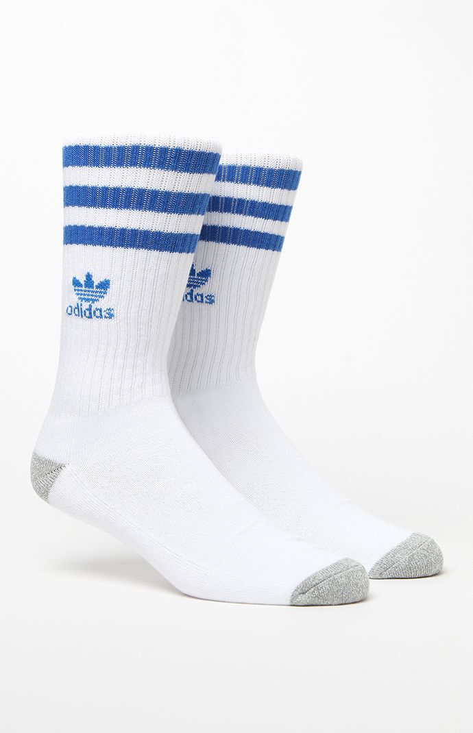 adidas Roller Crew Socks - White/blue 5241013
