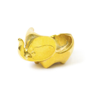Storage & Organizing - Brass Elephant Ring Bowl