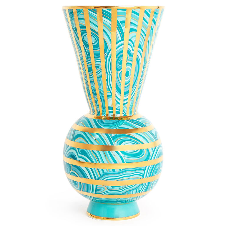 Holding Category - Malachite Rings Vase