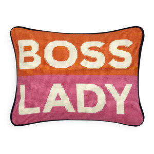 Holding Category - Boss Lady Needlepoint Pillow