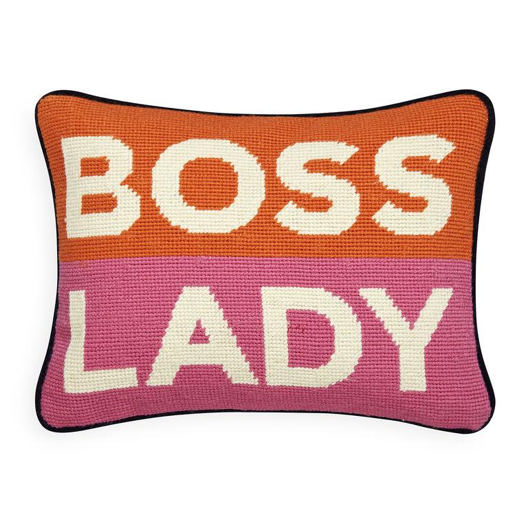 Holding Category - Boss Lady Needlepoint Pillow