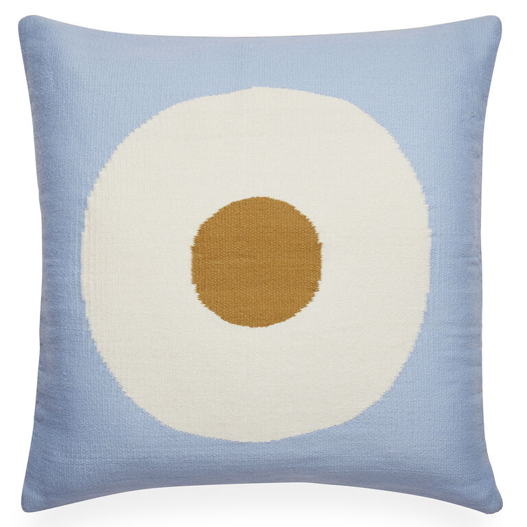 Cushions & Throws - Reversible Light Blue Lucky Strike Pop Cushion