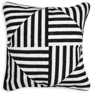 Cushions & Throws - Black and White Windmill Bargello Cushion