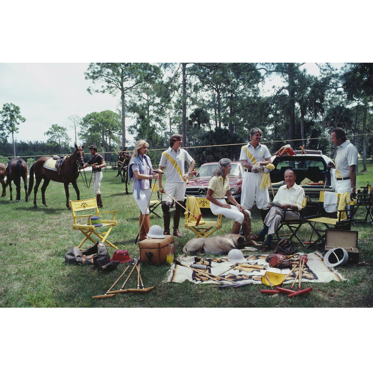 "Art - Slim Aarons ""Polo Party"" Photograph"