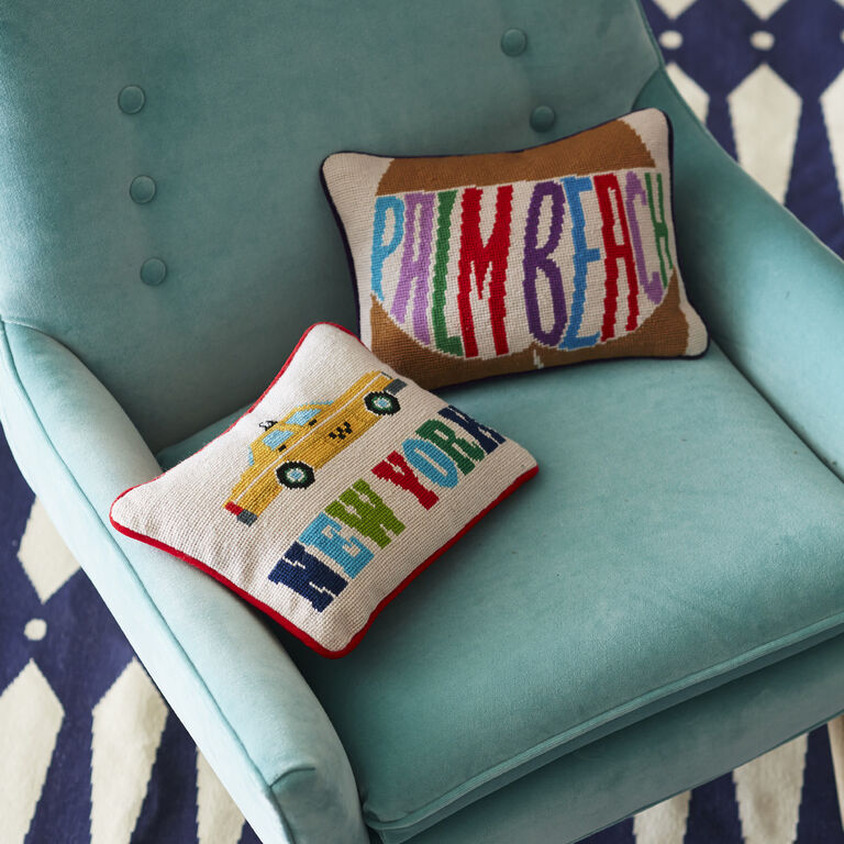 Cushions & Throws - New York Needlepoint Throw Pillow