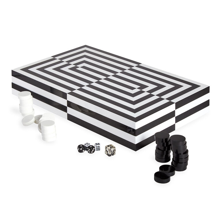 Games - Op Art Backgammon Set