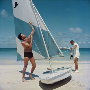"Art - Slim Aarons ""Boating in Antigua"" Photograph"