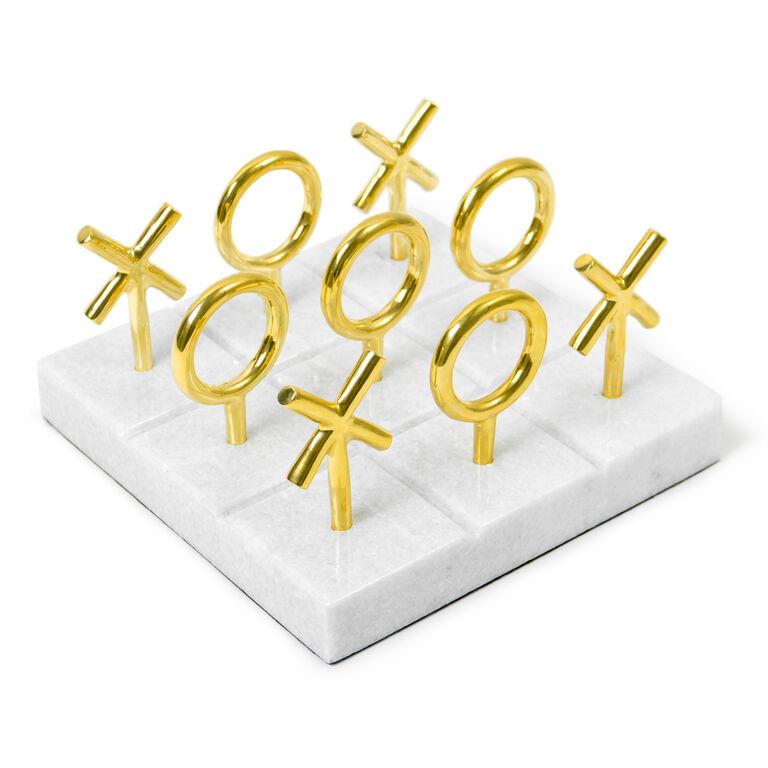 Games - Brass Tic-Tac-Toe Set