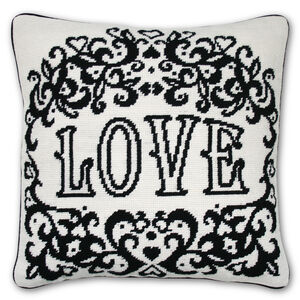 Cushions & Throws - Victorian Love Needlepoint Cushion