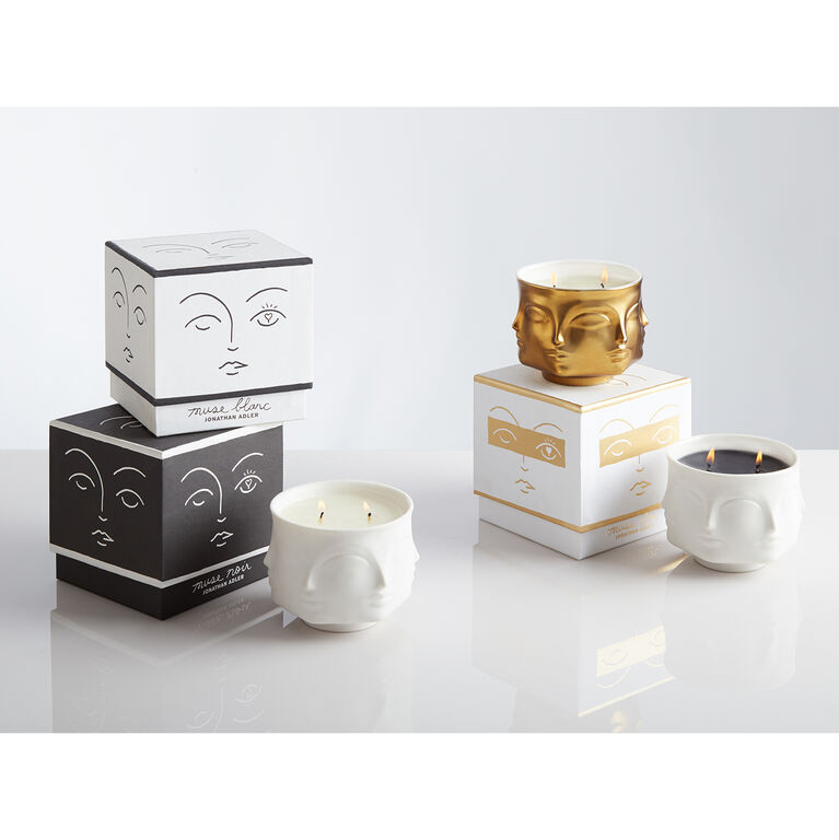 Holding Category - Muse Noir Ceramic Candle