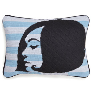 Cushions & Throws - Big Hair Bob Needlepoint Throw Cushion