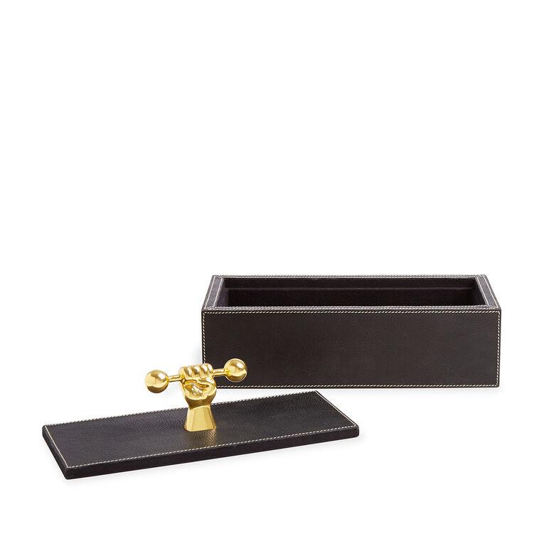 Storage & Organizing - Barbell Leather Box