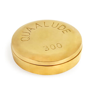 Brass Objects - Quaalude Brass Pill Box