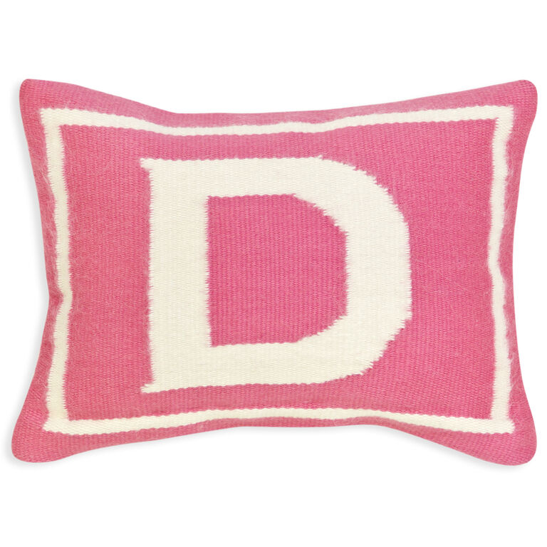 Cushions & Throws - Reversible Junior Pink Letter Cushion