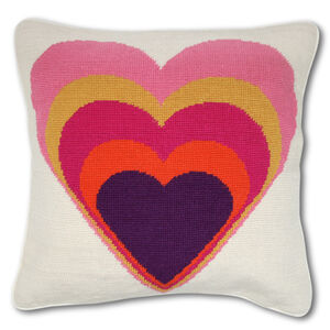 Cushions & Throws - Heart Needlepoint Cushion
