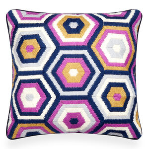 Cushions & Throws - Lavender Bargello Honeycomb Throw Pillow