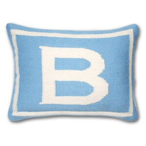 Cushions & Throws - Reversible Junior Blue Letter Cushion