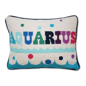 Cushions & Throws - Aquarius Zodiac Needlepoint Cushion