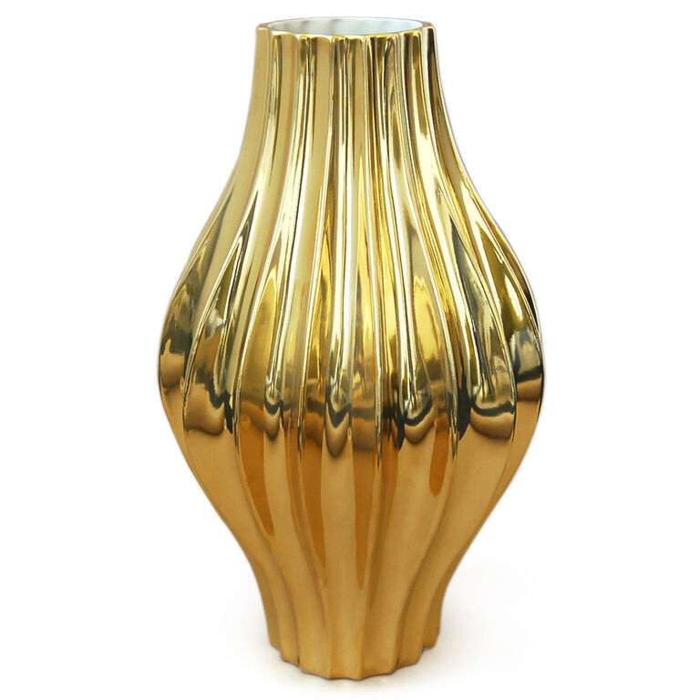 Vases - Metallic Giant Belly Vase