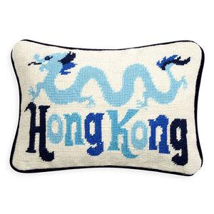 Cushions & Throws - Hong Kong Jet Set Needlepoint Cushion